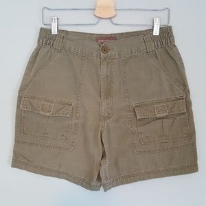 Vintage High Waisted Cargo Hiking Shorts